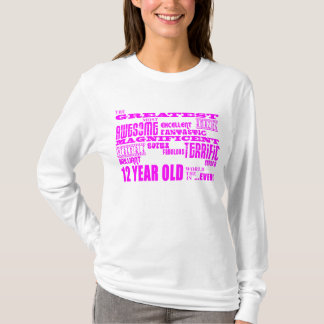 T-shirt 12èmes anniversaires de filles : Plus grands 12