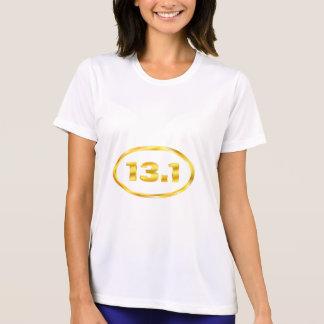 T-shirt 13,1 demi d'ovale d'or de marathon