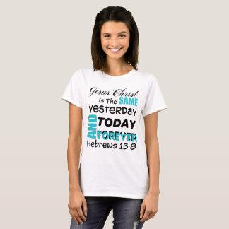 T-shirt 13:8 luthérien b1 d'Hébreux de vers de bible