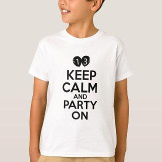 T-shirt 13èmes conceptions an d'anniversaire