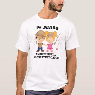 T-shirt 14ème Cadeau d'anniversaire de mariage pour lui