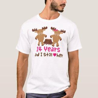 T-shirt 14ème Cadeau d'anniversaire pour lui