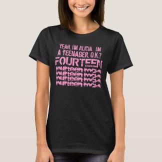 T-shirt 14ème Rose nommé fait sur commande de roches de