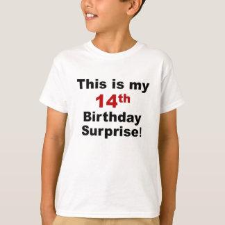 T-shirt 14ème Surprise d'anniversaire