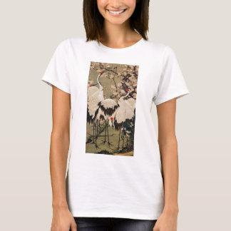T-shirt 15. le 梅花群鶴図, prune de 若冲 se développe et des
