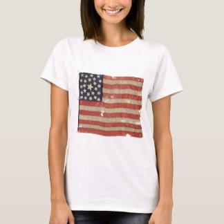 T-shirt 1850-1865 drapeau rare des États-Unis d'étoile de