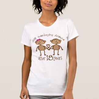 T-shirt 18ème Cadeaux d'anniversaire de mariage