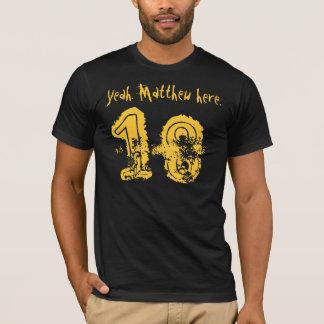 T-shirt 18ème Nom de coutume du cadeau d'anniversaire