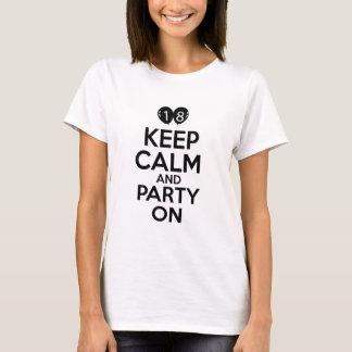 T-shirt 18èmes conceptions d'anniversaire d'année