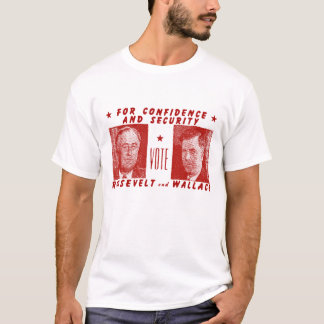 T-shirt 1940 vote Roosevelt + Wallace, rouge
