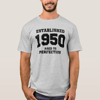 T-shirt 1950 établis âgés à la perfection