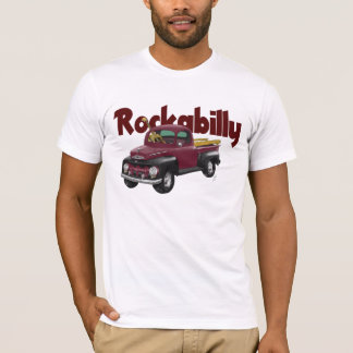 T-shirt 1951 de camion pick-up de rockabilly de