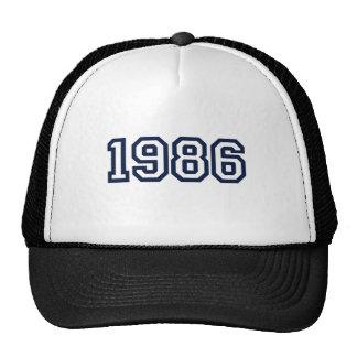 T-shirt 1986 d'année de naissance casquette de camionneur