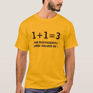 T-SHIRT 1+1=3