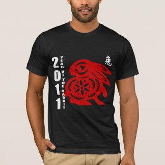 T-shirt 2011 années de coupe de papier chinois du lapin