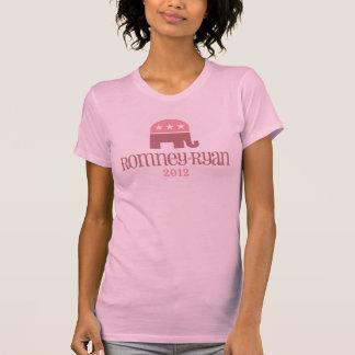 T-shirt 2012 d'éléphant rose d'amusement de Romney
