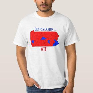 T-shirt 2016 d'élection de la Pennsylvanie WTF