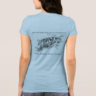 T-shirt 2017 bleu de logement de falaise de