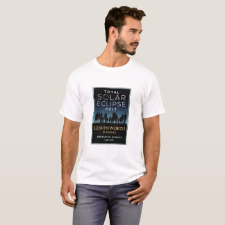 T-shirt 2017 éclipse solaire totale - Leavenworth, KS