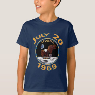 T-shirt 20 juillet 1969 mission d'Apollo 11 à la lune