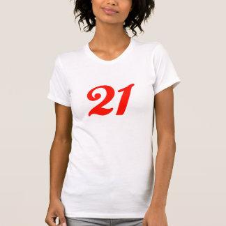T-shirt 21ème Cadeaux d'anniversaire