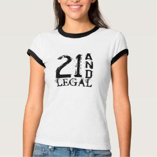 T-shirt 21ème Chemise d'anniversaire pour des femmes | 21