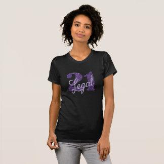 T-shirt 21ème Thème juridique de partie de noir des