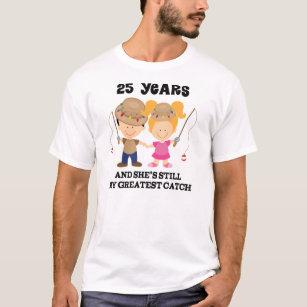 T Shirts 25 Ans Mariage Originaux Personnalisables Zazzlefr