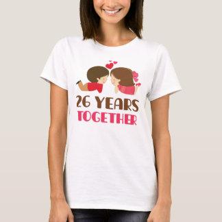 T-shirt 26ème Cadeau d'anniversaire pour elle