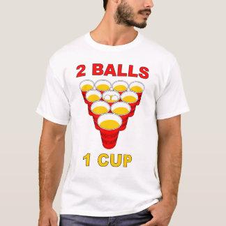 T-shirt 2 boules chemise de puanteur de bière de 1 tasse