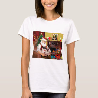T-shirt 2 carlins de Père Noël (f+B)