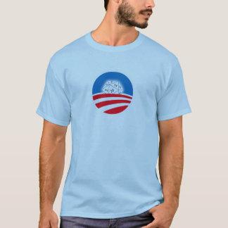 T-shirt 2 ont dégrossi la foule de Pro-Obama D&D (bleue)