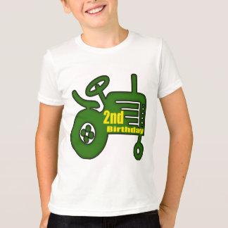 T-shirt 2èmes cadeaux d'anniversaire de tracteur