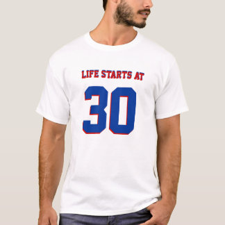 T-shirt 30ème Débuts de la vie de plaisanterie