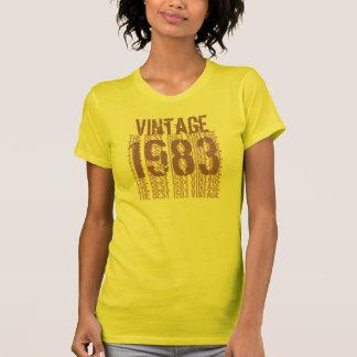 T-shirt 30ème Pourpre crème vintage Z1K du cadeau