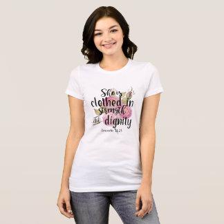 T-shirt 31:25 de proverbes elle est vêtue de la force
