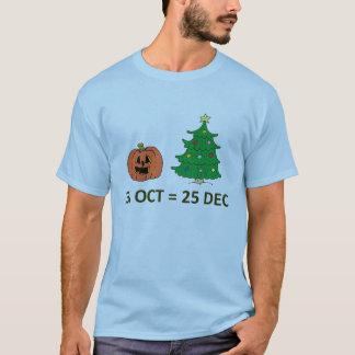 T-shirt 31 octobre = 25 décembre