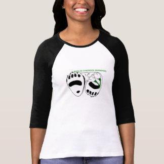 T-shirt 3/4 chemise bipolaire de conscience de la douille