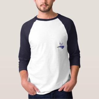 T-shirt 3/4 pièce en t en fer à cheval de tournoi de