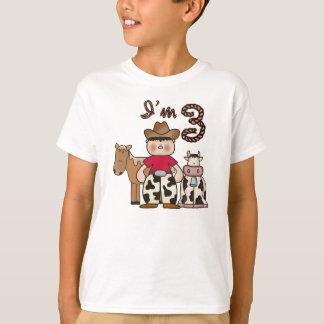 T-shirt 3ème anniversaire de cowboy
