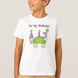T-shirt 3ème anniversaire de tortue