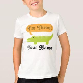 T-shirt 3ème Chemise personnalisée par alligator
