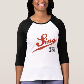 T-shirt 3h16 de Colossians _Sing le base-ball Jersey des