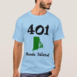 T-shirt 401, indicatif régional d'Île de Rhode