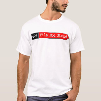 T-shirt 404 - Dossier non trouvé