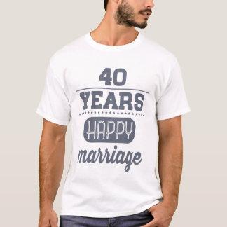 T-shirt 40 ans de mariage heureux