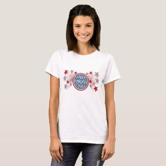 T-shirt 4 juillet bannière étoilée patriote heureuse