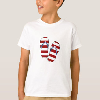 T-shirt 4 juillet bascules électroniques patriotiques de