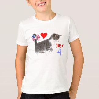 T-shirt 4 juillet chaton