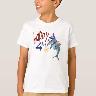 T-shirt 4 juillet dauphin heureux